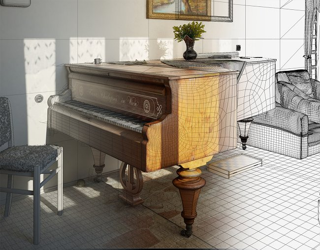 Making of the piano room