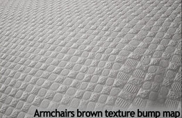 Armchairs brown texture: the bump map