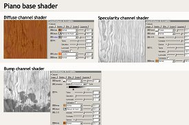 Piano base channel shaders
