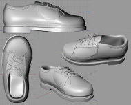 OpenGL render of sport shoes