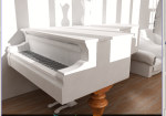 pov 1 clay renders - piano room wip 3