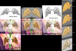 rose-angel wings versus sketch