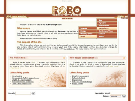 ROBO Design v5.5 - Front page
