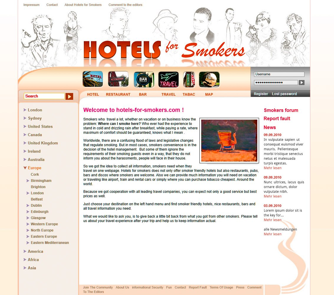 Hotels for Smokers