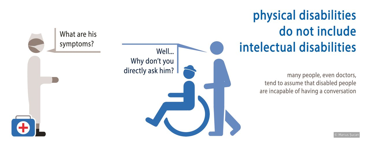 Physical disabilities do not include intelectual disabilities