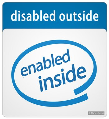 Disabled outside, enabled inside!
