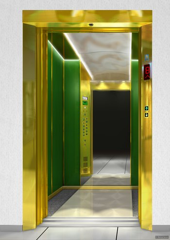 IFMA elevator: Lux Green Crystal