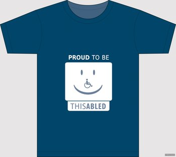 Proud to be disabled - t-shirt