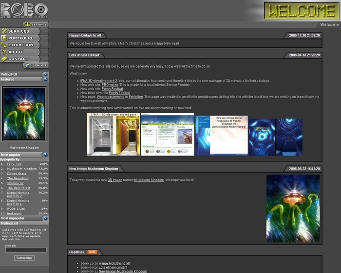 ROBO Design v2 updated interface