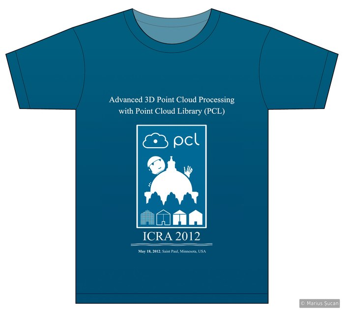 PCL t-shirt: ICRA 2012