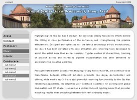 Sava Brancovici School - site interface