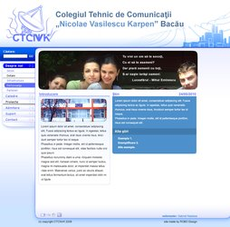 CTCNVK high-school site interface