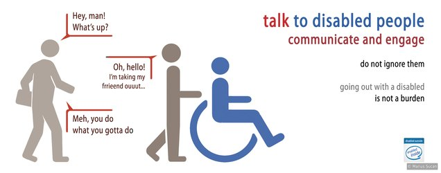 Talk to disabled people
